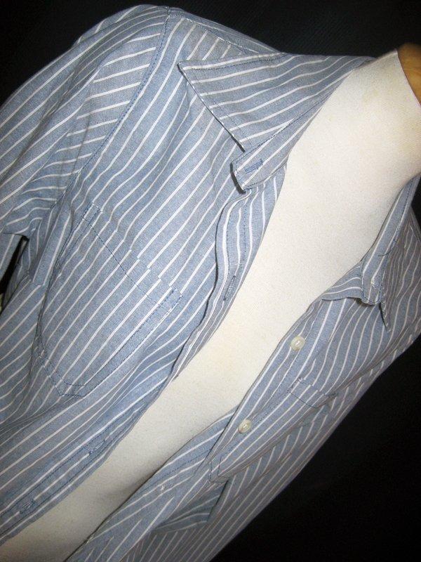 Striped Button-Up Boyfriend Shirt M