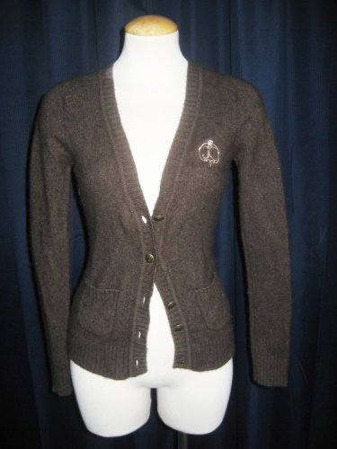 Chocolate Brown Cashmere Juicy Couture Cardigan