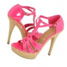 Hot Pink Patent Platform Stiletto Heels 8