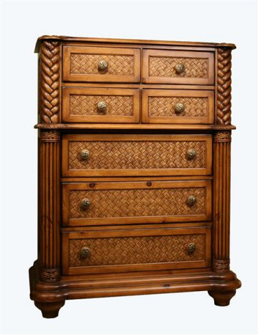 Progressive PALM COURT 7 Drawer Chest (Island Pine)