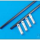 X800-83035S Tail Brace Set Silver IN STOCK