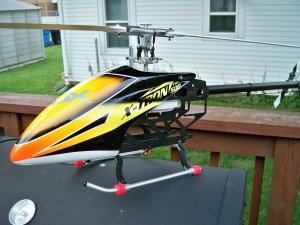 XTRON X tron 500 Airframe/w CF FBL blades IN STOCK!!!!!!! (1 assembled) ( 1 in box)