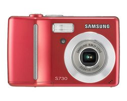 Samsung S730 7.2-Megapixel Digital Camera - Red