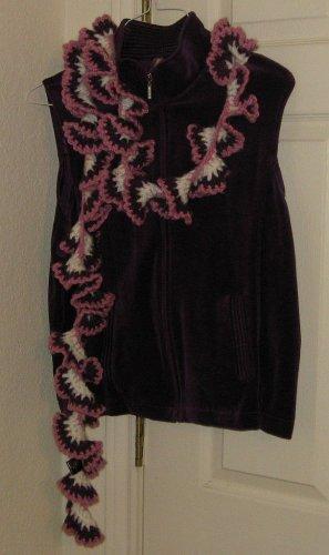 La Fiorentina Women's Crochet Spiral Scarf Pink