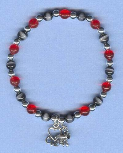CHEERLEADING LOVE TO CHEER CHARM BRACELET