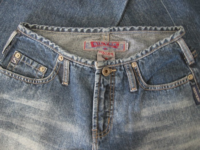 Silver Jeans Denims Sz 27/33 Bias Waist BKE 40