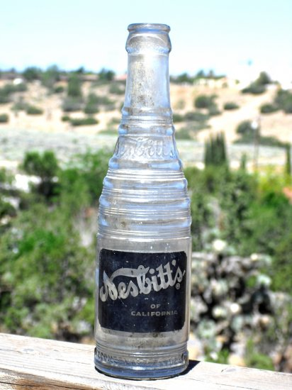 Vintage 1938 Nesbitt S Soda Bottle