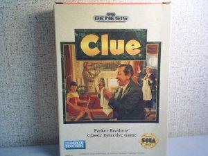 CLUE - PARKER BROS. CLASSIC DETECTVE GAME - Sega Genesis Video Game