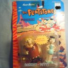 FLINTSTONE FIGURINES - WIND UP BARNEY AND BETTY RUBBLE - TOYS