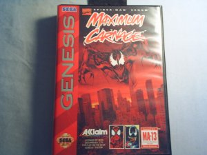 Spiderman/Venom - MAXIMUM CARNAGE Sega Genesis Video game