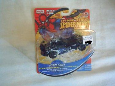 SPIDER SENSE SPIDER MAN POWER RACER  MOTORIZED  DIE-CAST VEHICLE- Black Spiderman Dodge Viper GT2