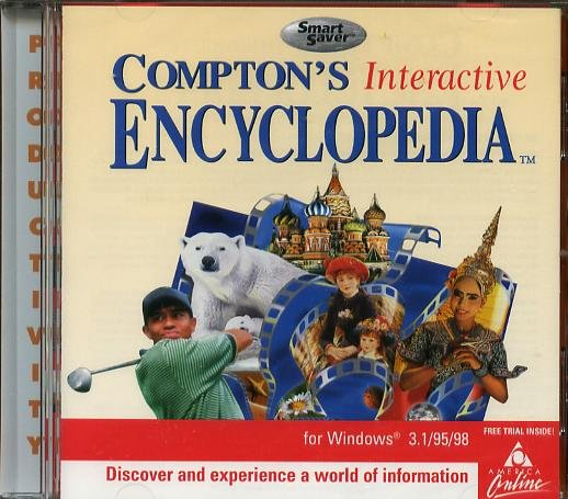 Compton's Interactive Encyclopedia CD-Rom (Free Shipping)