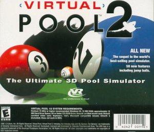 Virtual Pool 2 PC Game (New! Free Shipping)