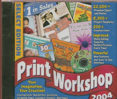 Print Workshop 2004 PC (Free Shipping)