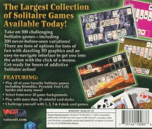 Ultimate Solitaire Over 500 Games PC CD-Rom JC (Free Shipping)