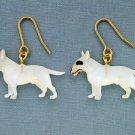 New Bull Terrier dog pierced earring Brown White