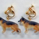 New  German shepherd dog clip-on earring