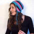 Crochet Mohawk Beanie Skull and Crossbones Custom by PurdyThings