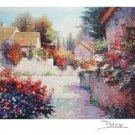 VILLAGE VIEW III Fine Art Lithograph Print Signed by Alex Perez COA