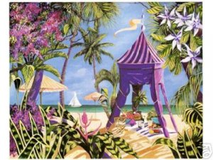 FANTASY ISLAND Fine Art Lithograph Print Signed by Sharie Hatchett Bohlmann COA