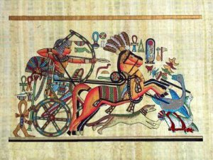 PHARAOH HUNTING IN ANCIENT EGYPT - Handmade on Egyptian Fine Art Papyrus - Direct from EGYPT
