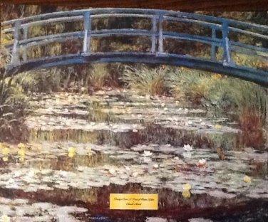 BRIDGE OVER A POND OF WATER LILIES Fine Art Print Repro by Artist CLAUDE MONET