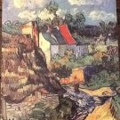HOUSES AT AUVERS Fine Art Print Repro by Artist VINCENT VAN GOGH