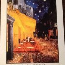 THE CAFE TERRACE ON THE PLAZA DU FORUM ARLES AT NIGHT Fine Art Print Repro Artist VINCENT VAN GOGH