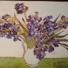 VASE OF IRISES Fine Art Print Repro by Artist VINCENT VAN GOGH