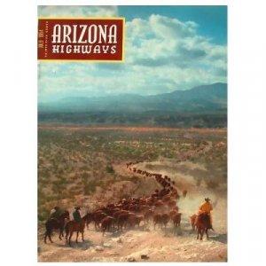 Arizona Highways Magazine - APACHE INDIAN CATTLE DRIVE - MONTEZUMA WELL - July 1954 - Vol XXX No 7