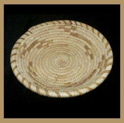 Native American Papago Indian Tohono O'odham Nation handcrafted weaved Bowl BASKET circa 1930's