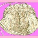Gold Metallic Faceted Gold Crystals Handmade Purse Handbag Evening Bag