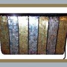 Black Velvet Gold and Silver Sequins Purse Handbag Evening Bag