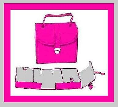 PINK LEATHER & GRAY SUEDE JEWELRY TRAVEL CASE BOX WITH 3 COMPARTMENTS - NEW!