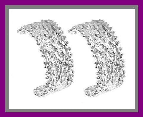 STERLING SILVER FANCY DESIGN POST EARRINGS - NEW!