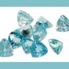 3.25ctw BLUE ZIRCON Trillion 4mm Faceted Gemstones Parcel - 100% Real Natural Authentic Genuine!