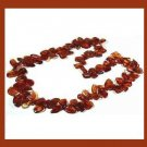 NATURAL DARK HONEY BALTIC AMBER 28 Inch STRAND NECKLACE - NEW!