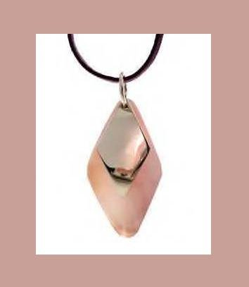 PINK SEASHELL & STERLING SILVER PENDANT 34 Inch PURPLE LEATHER CORD NECKLACE