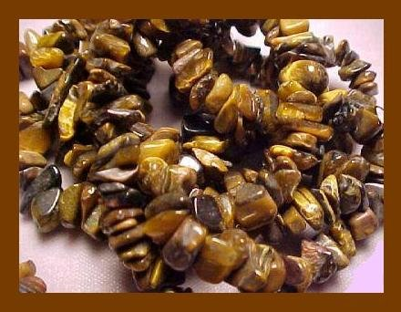 NATURAL TIGERS EYE POLISHED GEMSTONE 36 Inch STRAND NECKLACE - NEW!