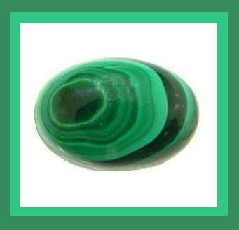 3.75ct MALACHITE Oval 12x9mm Cabochon Natural Loose Gemstone