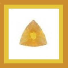FIRE OPAL 0.45ct Trillion 5mm YELLOW Faceted Loose Gemstone - 100% Real Natural Genuine