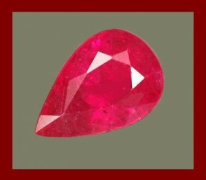 RUBY Blood Red 1.75cts Pear Cut 9x6mm Faceted Gemstone - 100% Real, Natural, Genuine, and Authentic!