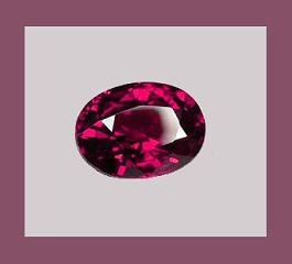 Rhodolite GARNET 1.10ct Oval 7x5mm Purple Red Faceted Loose Gemstone - 100% Real Natural Genuine