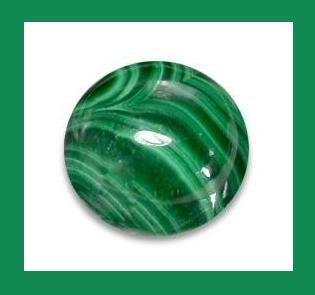 2.19ct MALACHITE Round 7mm Cabochon Natural Loose Gemstone