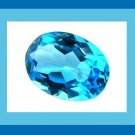 8.00ct SWISS BLUE TOPAZ Oval 11x8mm Faceted Loose Gemstone - 100% Real Natural Genuine