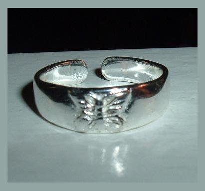 Butterfly Design Sterling Silver Toe Ring