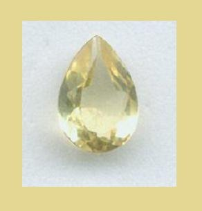 Yellow Green GOLDEN BERYL 3.50ct Pear Cut 11x8mm Faceted Loose Natural Gemstone