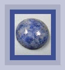 10.00ct DUMORTIERITE Round Cab 14mm Cabochon Navy Blue & Gray Loose Gemstone