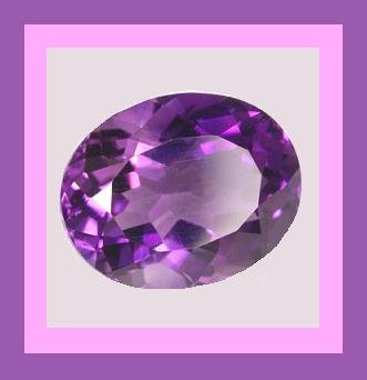 AMETHYST 0.90ct Oval 7x5mm Violet Purple Faceted Natural Loose Gemstone