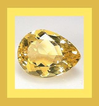 CITRINE 1.30ct Pear Cut 9x7mm Faceted Natural Loose Gemstone